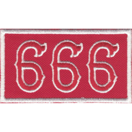 Patch - White&Red - 666