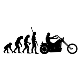 Garage Sticker - Biker Evolution - DECAL LARGE