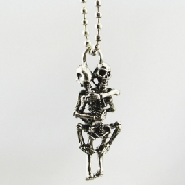 Necklace / Chain - Naughty Love Skeletons - Pendant