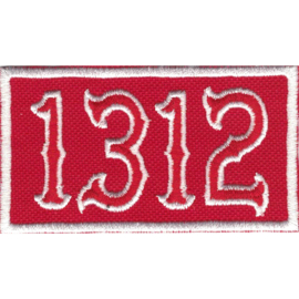 Patch - White&Red - 1312  - ACAB
