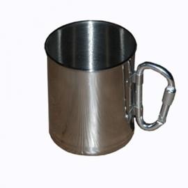 Stainless steel cup - Carabiner- Mug