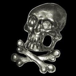 P138 - Pin - 3D - Skull with Bones