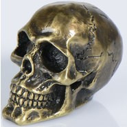 Decoration - Brass Skull - Medium Size (58mm)