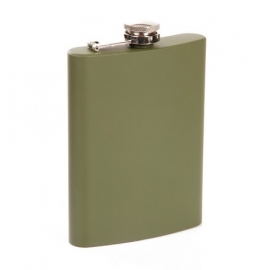 Stainless steel flask - Army Green 8 oz