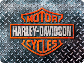 METAL SIGN HARLEY-DAVIDSON LOGO - SMALL