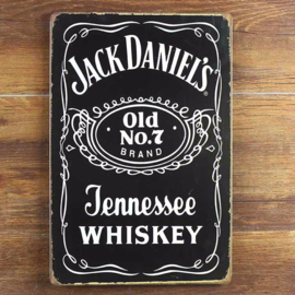 Metalen Bord: Jack Daniels Old No.7
