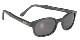 Larger Sunglasses - X-KD's  - SMOKE - Matte Black Frame