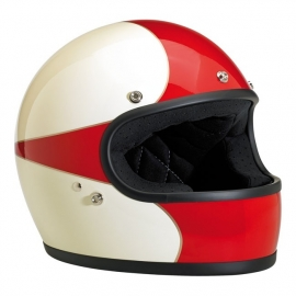 BiltWell - Gringo Helmet - ANTIQUE WHITE/RED - XXL only