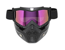 Shark-style - Full Face Mask with Goggles - IRIDIUM / BLUE MIRROR
