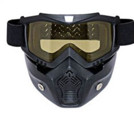 Shark-style - Full Face Motorbril - Masker - Gele Lens