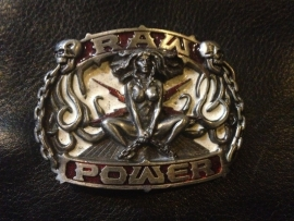 B127 - Belt Buckle - Raw Power