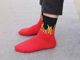 Socks - red-black flame socks