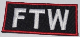 172 - RED and WHITE PATCH - FTW - F.T.W. - Fuck the world - Forever two wheels