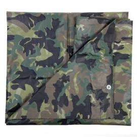 Tarp / Tarpaulin - aprox 4 x 3 meters - Woodland Camouflage