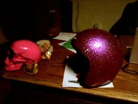 Indy-500 - Metalflake helmet - Fiberglass - Pink - P!NK