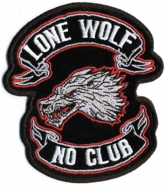 000 - BackPatch - Lone Wolf - No Club - 11""