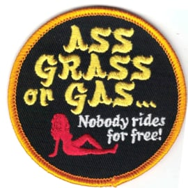 Patch - Biltwell - ASS GRASS or GAS , nobody rides for free!