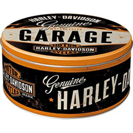 Harley-Davidson - Large Tin Cookie Box - Genuine