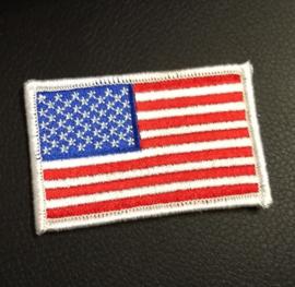 PATCH - USA Flag - Stars & Stripes - America (white border)