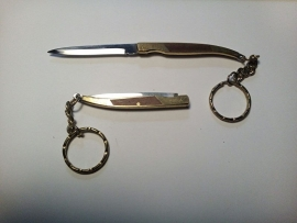 Metal Keychain - KNIFE with Drop-Point Blade