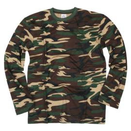 T-shirt Camouflage - Woodland Camouflage - Longsleeve