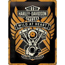 Harley-Davidson - Tin Sign - Wild at Heart