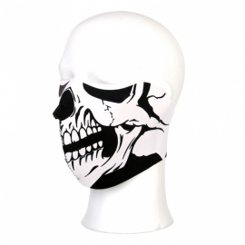 Face Mask - Half - Skull -  Biker (large version)