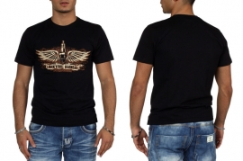 King Kerosin - Rock 'n Roll Gearhead - Winged Spark plug-  T-shirt (S only) SALE!