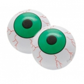 TrikTopz - Valve Caps, Green EyeBall - sold in pairs