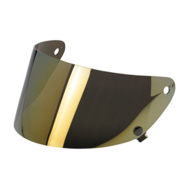 Biltwell Gringo S - Shield Visor - Anti-FOG - GOLD CHROME
