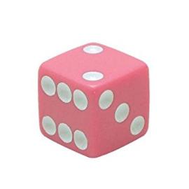 Valve Caps - Pink Dice - Solid Pink - TrikTopz