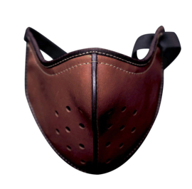 Hannibal Face Mask - Motorcycle Mask - Brown