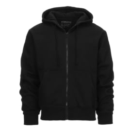 Hoodie with zipper - Kosumo - Black