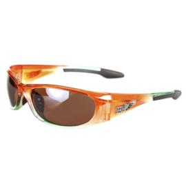 Sunglasses - Amber &  Winged - Biker - Smoked Lenses