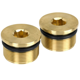 39MM LOW PROFILE FORK CAPS - BRASS - LowBrow Customs