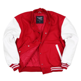Leather & Wool - Baseball Jack - Red & White
