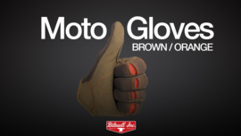 Biltwell INC - Moto Gloves - Brown/Orange