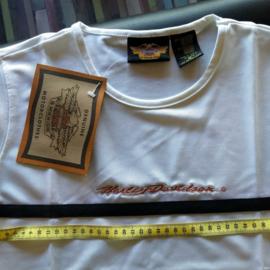 Lady Shirt - Harley-Davidson - White - Embroide Script Logo