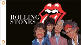 Flag - Rolling Stones - Tongue & Heads