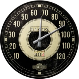 Harley-Davidson:  Genuine Biker Wall Clock - HD Speedometer 1903