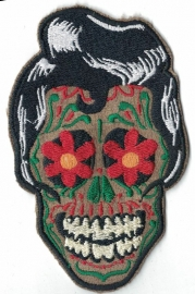 189 - Patch - Elvis - Dia de los Muertos - Rockabilly