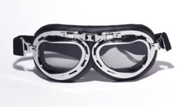 Goggles - Red Baron style - Chrome / Smoke