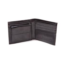Wallet - Jack Daniels -Completely Black Bifold - Original Big Logo with Flat Studs