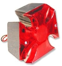 MALTESE CROSS TAILLIGHT CHROME / RED