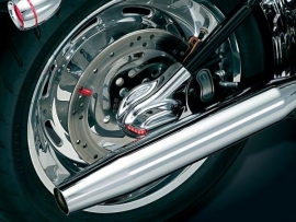 Kuryakyn LED Chrome Phantom Covers (pair) - for `08-`11 Softail
