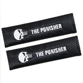 Seat Belt Shoulder Protector Pads - The Punisher / Carbon