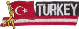 054 - PATCH - Waving Turkish flag - TURKEY - Türk bayrağı - Türkiye