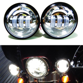 4,5 inch LED - Chrome Passinglights - (2 pieces)