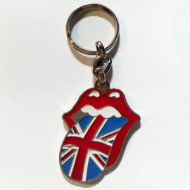 Keychain - The Rolling Stones - UK Tongue Logo - Union Jack