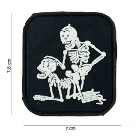147 - Patch - Skeletons fucking in Doggy Style - Black - PVC 3D - VELCRO